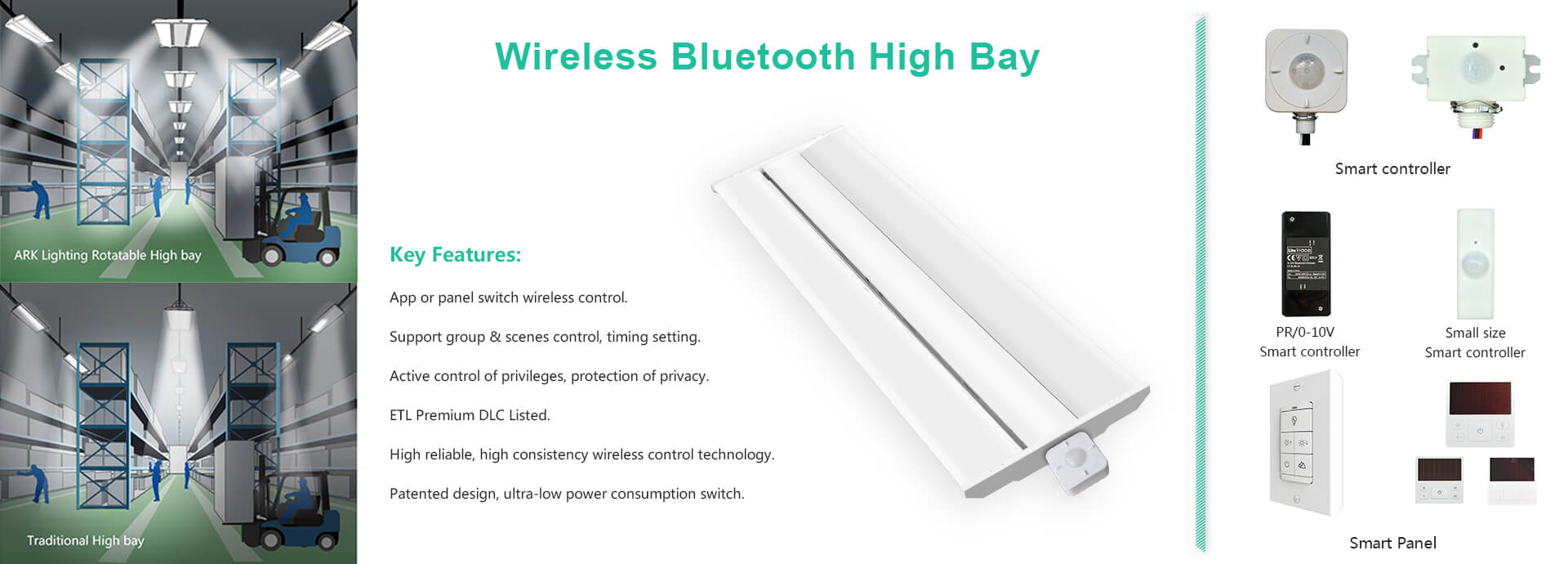 Linear High Bay Smart Lighting Control System Led Light