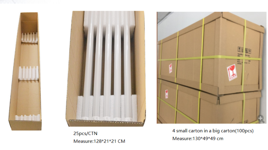 t8 led tube light China package