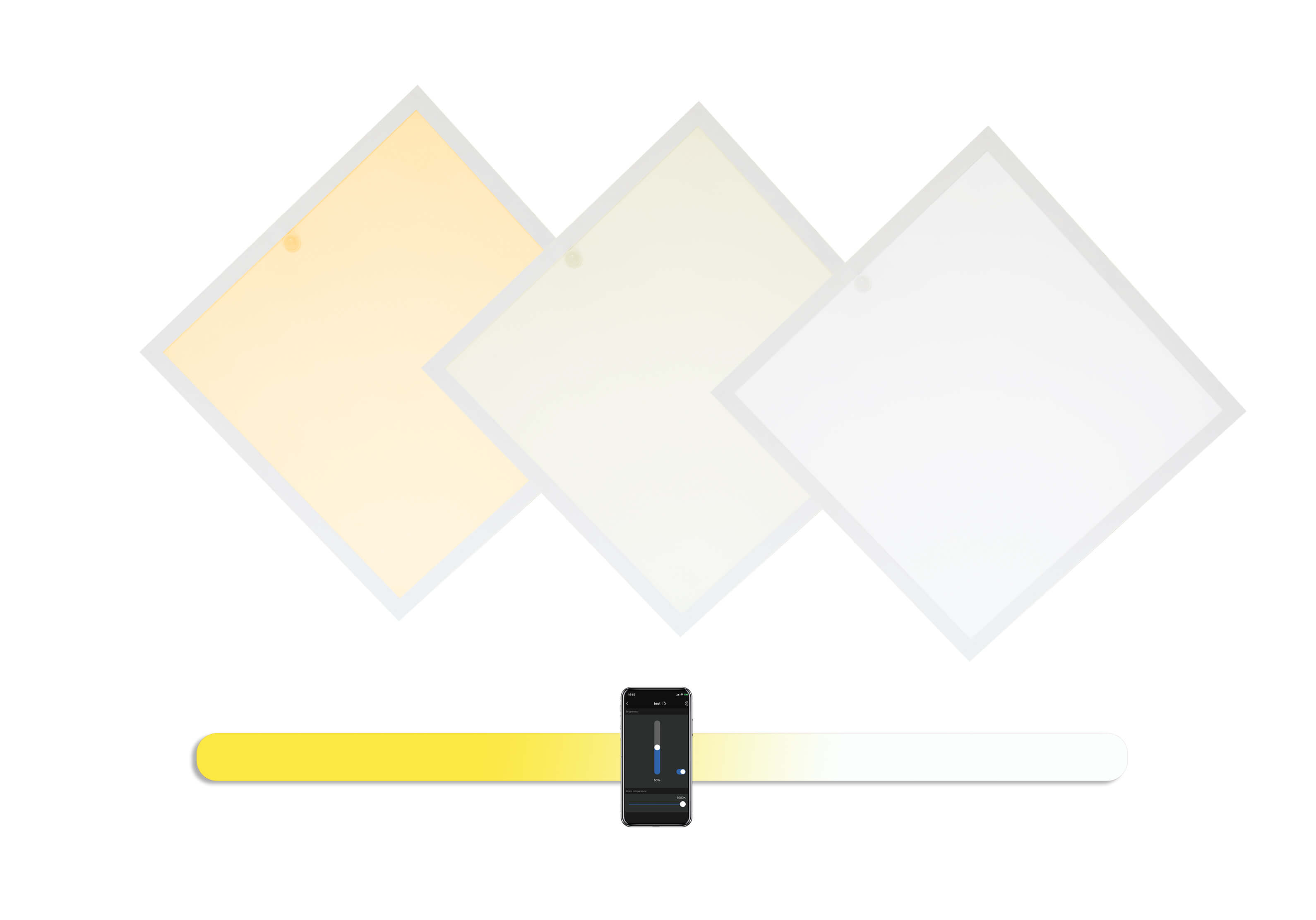 smart lighting control flat led ceiling light panels
