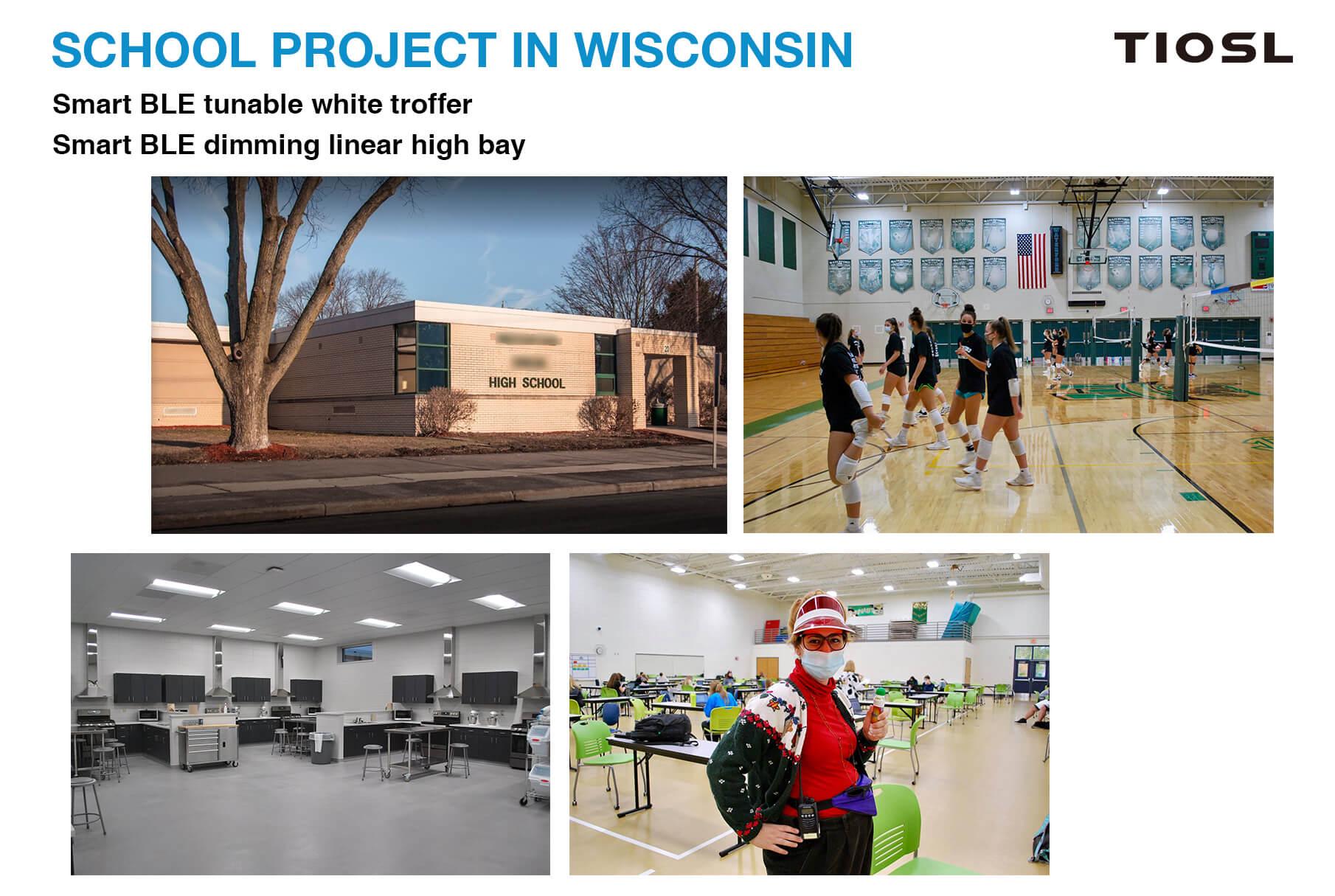 School smart lighting project in Wisconsin