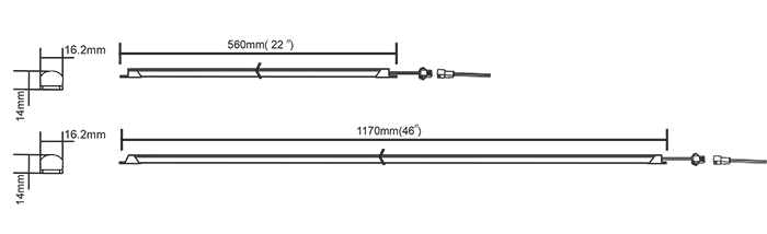 Bluetooth magnetic led light strip fluorescent to led retrofit kits