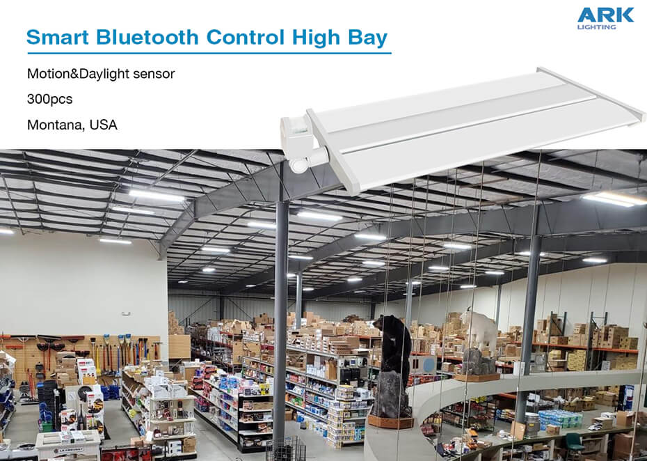 USA Montana supermarket smart Bluetooth control High Bay lighting project