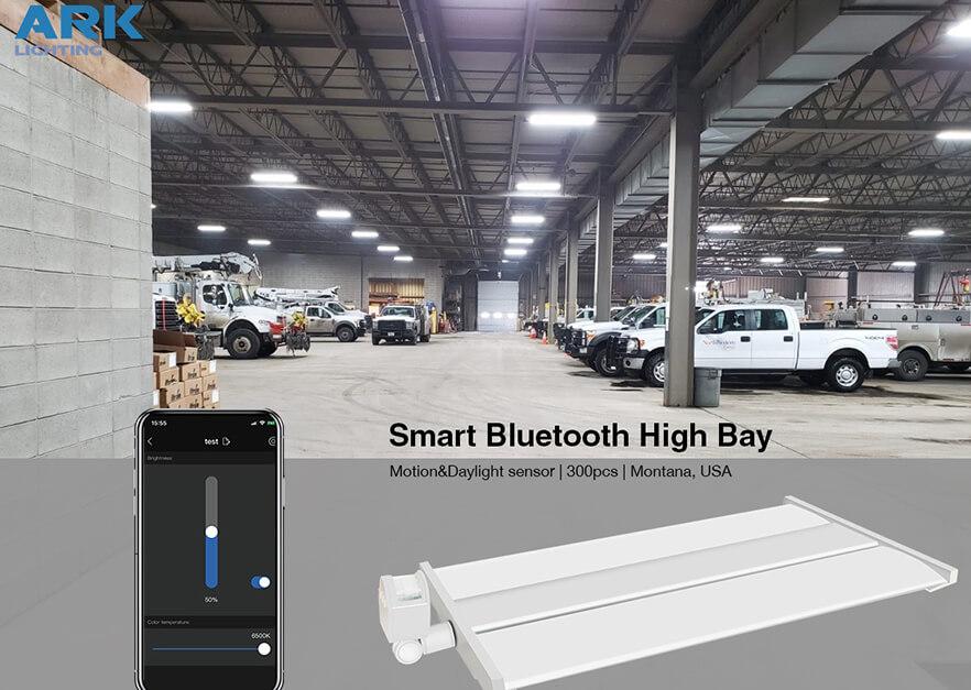 USA Montana parking smart Bluetooth control High Bay lighting project